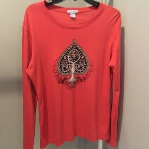 Lucky Brand sz L Graphic Long Sleeve T